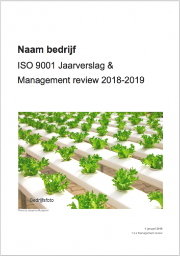 ISO 9001 management review voorblad