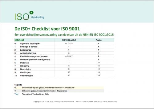 Voorblad De ISO+ Checklist ISO 9001