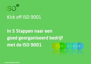 Kickoff 5 stappen ISO 9001